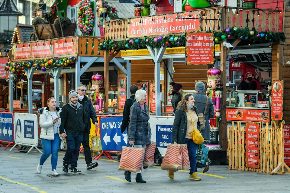 <p>Restrictions will tighten in build-up to Xmas</p> (PA)