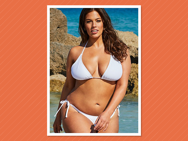 """<p>Ashley Graham x Swimsuits for All Icon white bikini, $90, <a href=""""https://www.swimsuitsforall.com/Ashley-Graham-x-swimsuitsforall-Heroina-White-Bikini#rrec=true"""" rel=""""nofollow noopener"""" target=""""_blank"""" data-ylk=""""slk:swimsuitsforall.com"""" class=""""link rapid-noclick-resp"""">swimsuitsforall.com</a> </p>"""