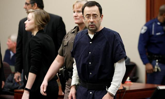 "<span class=""element-image__caption"">Larry Nassar is facing a long prison sentence. </span> <span class=""element-image__credit"">Photograph: Brendan Mcdermid/Reuters</span>"