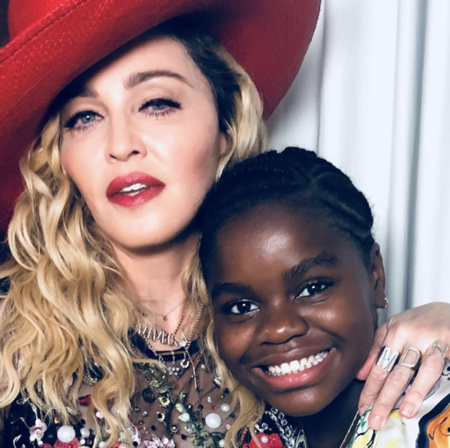 "<p>Have Mercy! Madge posted this shot with her daughter, who turned 12 on Monday. ""Happy Birthday to this rare and beautiful child!! Chifundo (Mercy) James!"" the proud mom wrote. (Photo: <a href=""https://www.instagram.com/p/BeQFeCHBVA9/?taken-by=madonna"" rel=""nofollow noopener"" target=""_blank"" data-ylk=""slk:Madonna via Instagram"" class=""link rapid-noclick-resp"">Madonna via Instagram</a>) </p>"