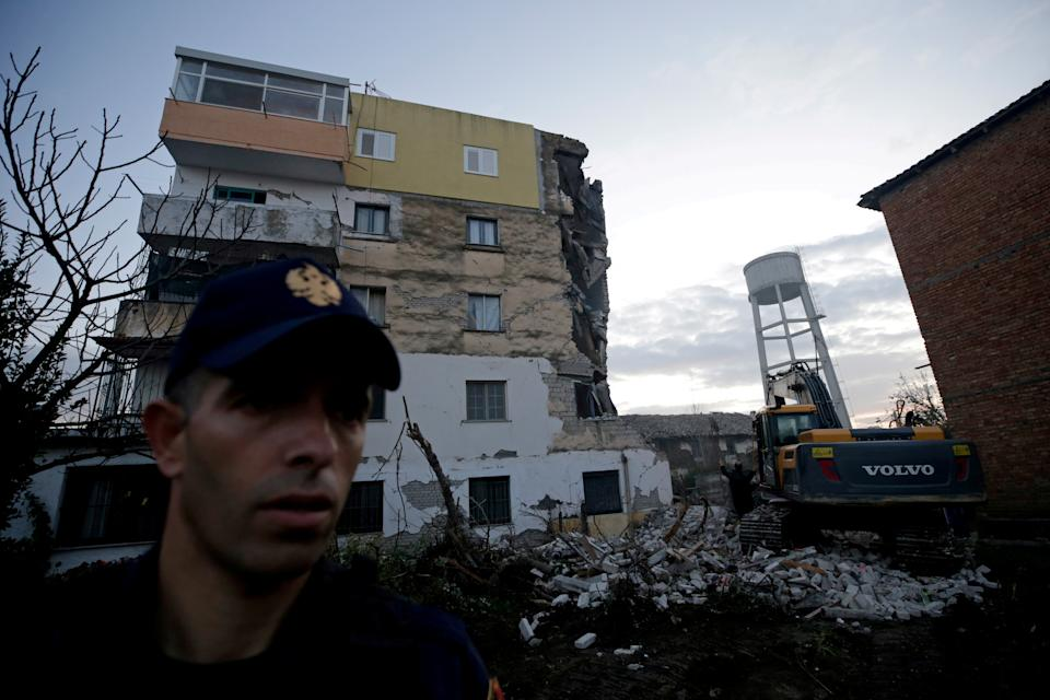 A damaged building is pictured in Thumane, after an earthquake shook Albania, November 26, 2019. (Photo: Florion Goga/Reuters)