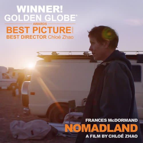'Nomadland' won the Best Director and Best Picture awards at the Golden Globes