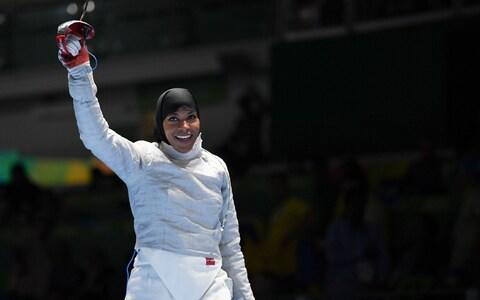Ibtihaj Muhammad was the first hijab-wearing Olympian to represent the US when she competed at the 2016 Games - Credit: USA Today
