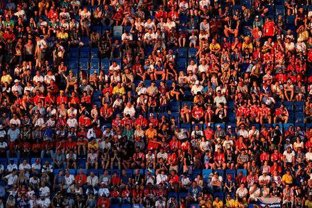 Soccer Football - World Cup - Group G - Belgium vs Panama - Fisht Stadium, Sochi, Russia - June 18, 2018 Panama fans during the match REUTERS/Carlos Garcia Rawlins