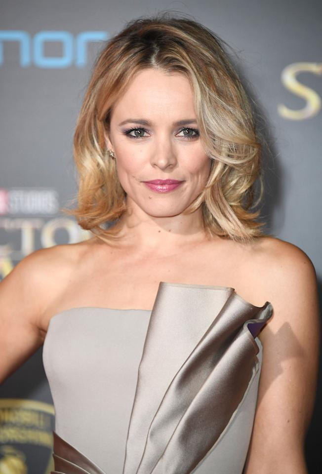 <p>With soft curls and side-swept bangs, this is an Old Hollywood-inspired look that is as glamorous as it is low-key.</p>