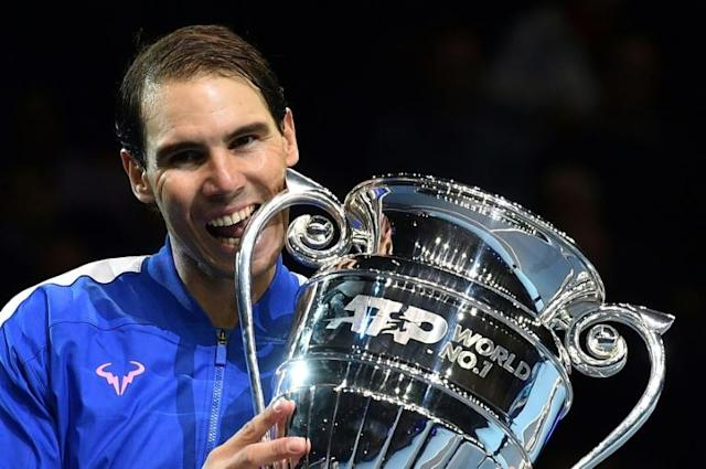 Spain's Rafael Nadal finished as world number one for a fifth year (AFP Photo/Glyn KIRK )