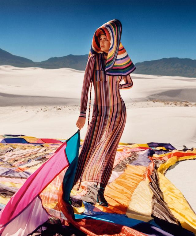 <p><strong>Models:</strong> Kendall Jenner<br><strong>Photographer: </strong>Harley Weir<br> (Photo: Courtesy of Missoni) </p>