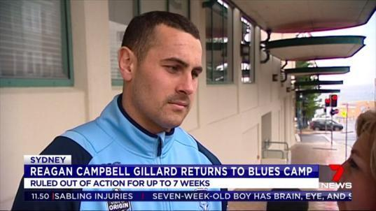 Injured Blues forward Reagan Campbell-Gillard has been invited back invited back into camp this morning after being ruled out for the rest of the series with a broken jaw.