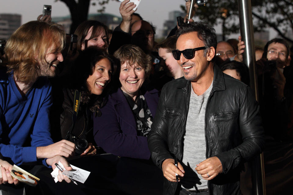 LONDON, ENGLAND - OCTOBER 29:  Bruce Springsteen attends the screening of 'The Promise: The Making Of Darkness On The Edge Of Town' at BFI Southbank on October 29, 2010 in London, England.  (Photo by Mike Marsland/WireImage)