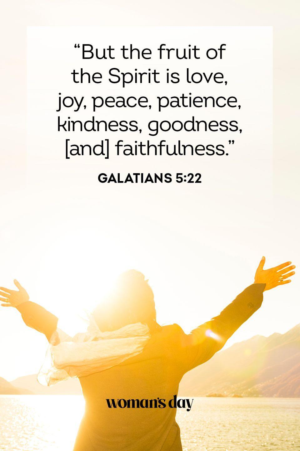 """<p>""""But the fruit of the Spirit is love, joy, peace, patience, kindness, goodness, [and] faithfulness."""" — Galatians 5:22</p><p><strong>The Good News</strong>: Be at peace, and the rest will follow.</p>"""