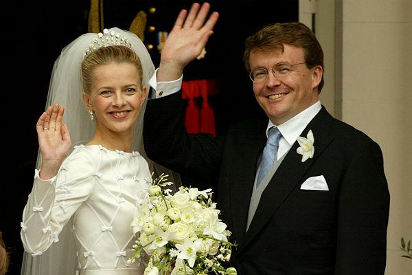 <b>5. Prince Johan Friso of Orange-Nassau & Mabel Wisse Smit:</b> <br>Prince Johan Friso and Princess Mabel leave the church on April 24, 2004 in Delft, The Netherlands.