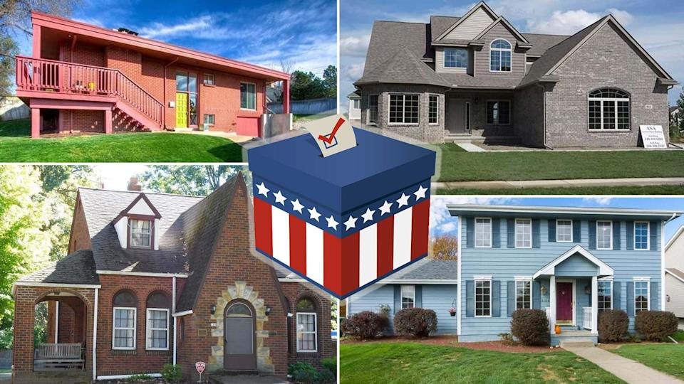 homes in battleground states counties