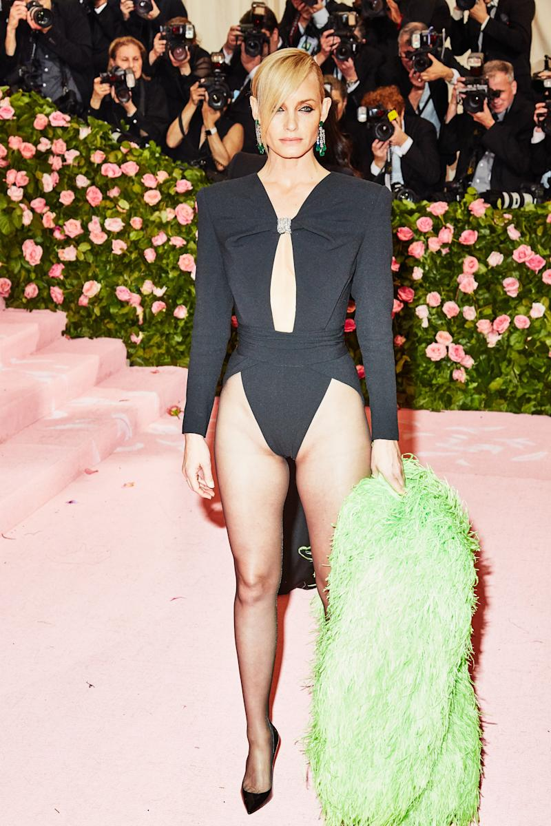 Amber Valletta on the red carpet at the Met Gala in New York City on Monday, May 6th, 2019. Photograph by Amy Lombard for W Magazine.