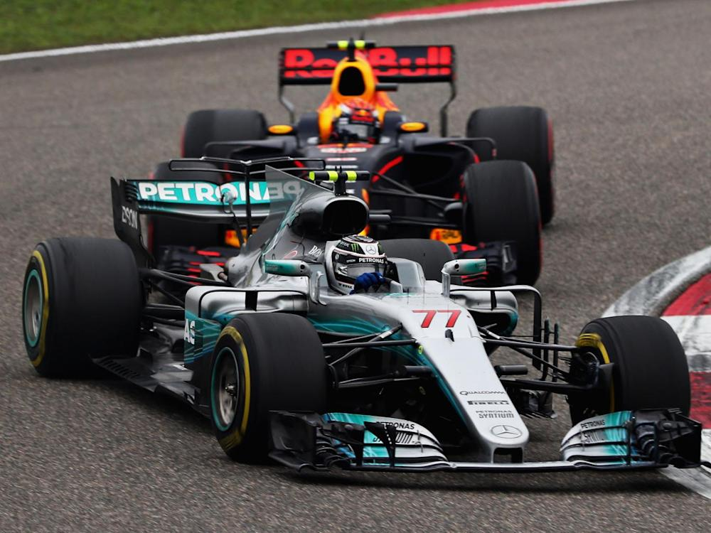 Valterri Bottas had to fight back through the field after spinning behind the safety car (Getty)