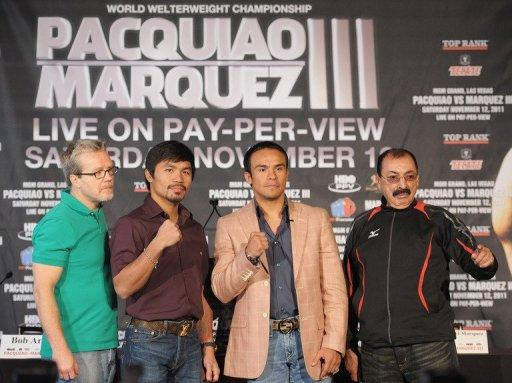 Trainers of Pacquiao and Marquez say hard work, not performance-enhancing drugs, have allowed their fights to add muscle