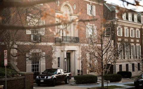 The Bezos's property in Washington D.C. is the former home of a textile museum - Credit:  HILARY SWIFT/ NYTNS / Redux / eyevine