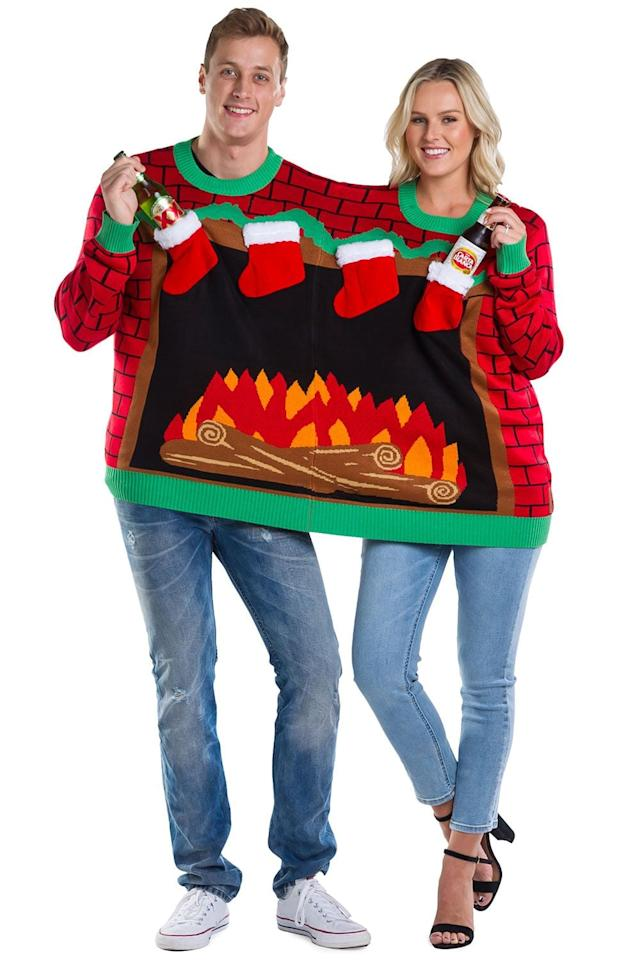 Christmas Sweaters For Couples.Forget The Mistletoe These Ugly Christmas Sweaters For