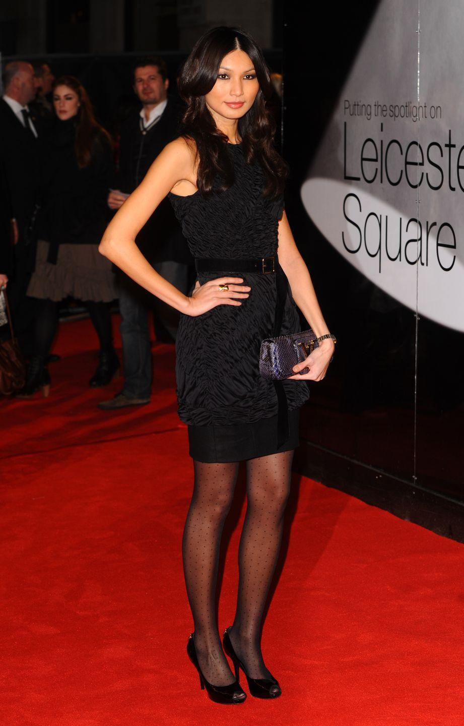 <p>Chan gave us all the mid-2010s feel in a black peplum dress she wore to attend The Brighton Rock premiere in February, 2011.</p>