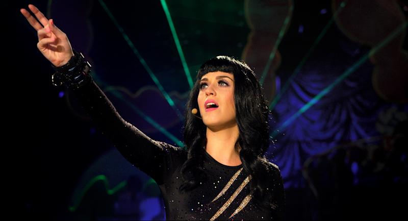 "This film image released by Paramount Pictures shows Katy Perry in a scene from her 3D film, ""Katy Perry: Part of Me."" (AP Photo/Paramount Pictures)"