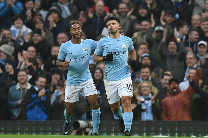 Aguero was on target in City's win over Watford (AFP/Getty Images)