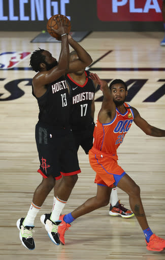 Harden's 37 points lead Rockets past Thunder in Game 1