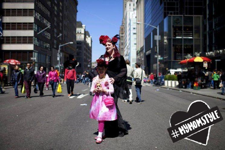 The author and her daughter at the annual Easter Parade in New York City. (Photo: Raven Snook)