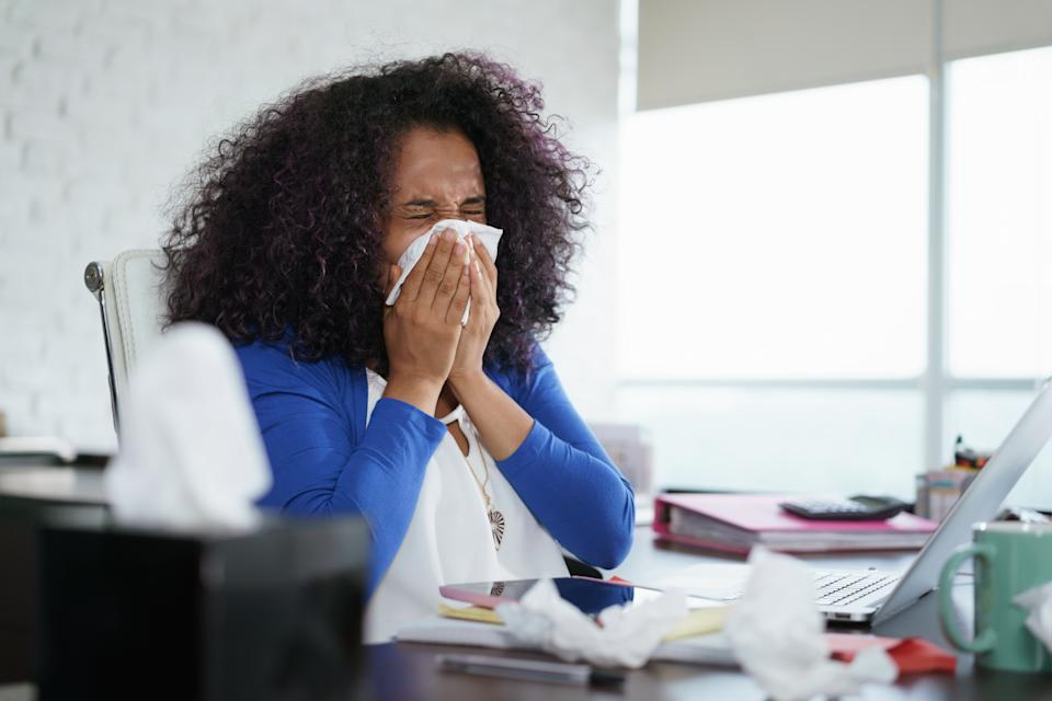 Many Americans are contending with more indoor allergy symptoms. (Getty Images)