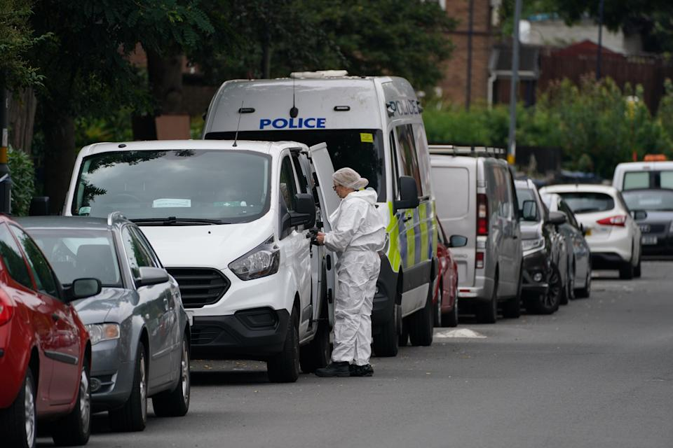 West Midlands Police said searches are under way to trace a man seen leaving the building shortly before the emergency services were called (Steve Parsons/PA) (PA Wire)