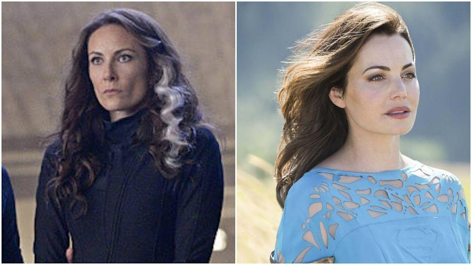 "<p><em>Supergirl</em> endured a pretty major recasting during season 3, when <em>Smallville</em> star Erica Durance replaced Laura Benanti. Benanti left the show because of her Broadway schedule, and executive producer Andrew Kreisberg told <em><a href=""https://ew.com/tv/2017/07/07/supergirl-erica-durance-benanti-recast/#:~:targetText=Supergirl%20adds%20Smallville's%20Erica%20Durance%20in%20major%20recast,-By%20Natalie%20Abrams&targetText=EW%20has%20learned%20that%20Smallville,%2C%20Alura%2C%20from%20Laura%20Benanti."" rel=""nofollow noopener"" target=""_blank"" data-ylk=""slk:EW"" class=""link rapid-noclick-resp"">EW</a></em>, ""We are so blessed that Erica has come aboard to offer her own interpretation of Kara's mother....We know Erica will continue the proud tradition of legacy actors joining our shows and creating new and exciting takes on classic DC characters.""</p>"