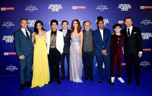 The cast and crew of Ready Player One