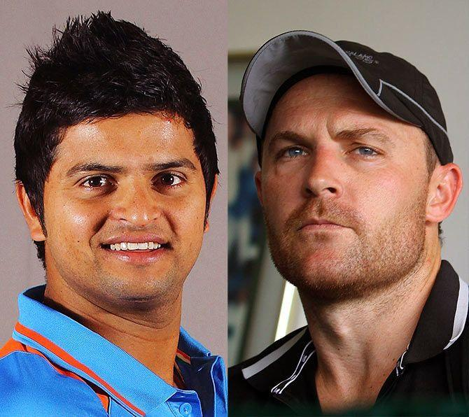 Suresh Raina and Brendon McCullum were the first players to score a T20I hundred for India and New Zealand respectively