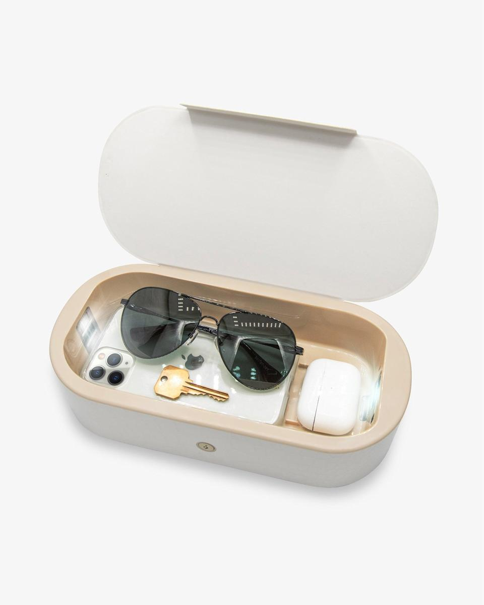 <p>The size of this <span>Sonix Beyond UV+O3 Sanitizing Box</span> ($75) is great, because it can also fit your keys, glasses, earbuds, and more.</p>