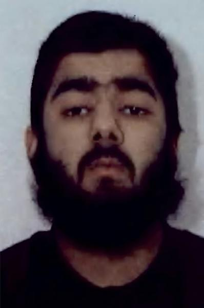 Police have identified the suspect as 28-year-old Usman Khan (AFP Photo/Handout)