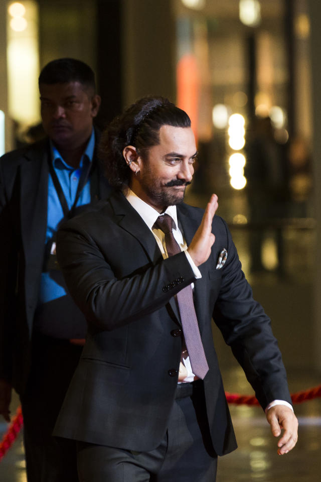 <p>Bollywood star Aamir Khan in Singapore (Photo: Marina Bay Sands) </p>