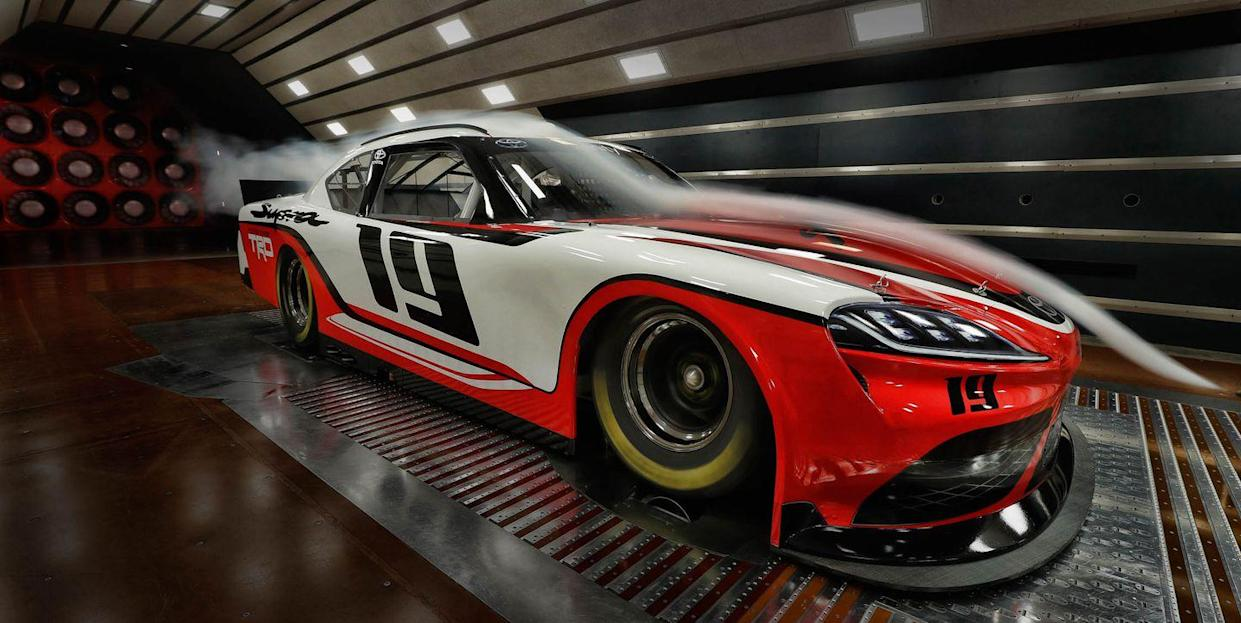 How the NASCAR Xfinity Series Toyota Supra Lines Up with the