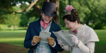 """<p>At the end of the first season, viewers were blown away by Lady Whistledown's reveal. However, in Julia Quinn's novels, the reveal occurs much later—and Quinn wasn't <a href=""""https://www.townandcountrymag.com/leisure/arts-and-culture/a34760004/julia-quinn-bridgerton-lady-whistledown-reveal-reaction/"""" rel=""""nofollow noopener"""" target=""""_blank"""" data-ylk=""""slk:aware of the decision"""" class=""""link rapid-noclick-resp"""">aware of the decision</a> to reveal the identity until she was watching rough cuts of the season. Ultimately, the show's creator felt that it didn't make sense to draw out the mystery behind the gossip writer, since so many people already knew the <a href=""""https://www.thewrap.com/bridgerton-season-2-lady-whistledown-penelope-easter-eggs/"""" rel=""""nofollow noopener"""" target=""""_blank"""" data-ylk=""""slk:true identity from the books"""" class=""""link rapid-noclick-resp"""">true identity from the books</a>.</p>"""