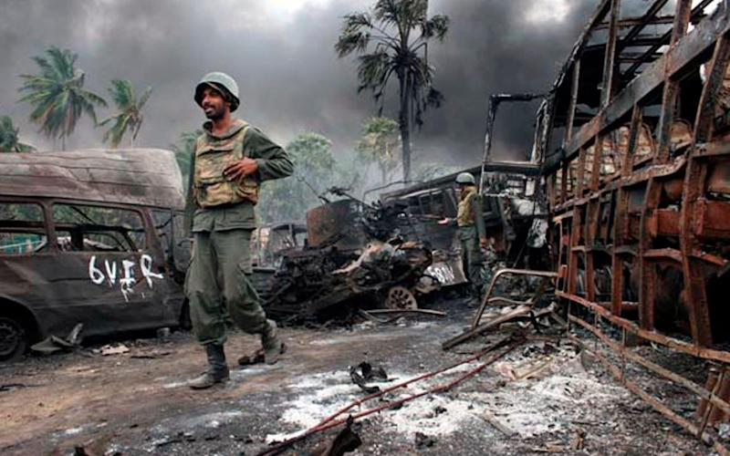 Tamils have long campaigned for the government to release information on the whereabouts of the 20,000 people who went missing during Sri Lanka's Civil War - HO/Reuters