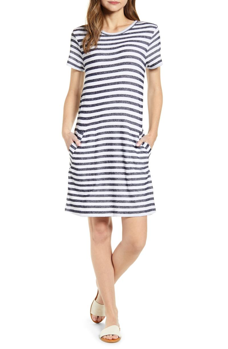 Caslon Stripe T-Shirt Dress. Image via Nordstrom.