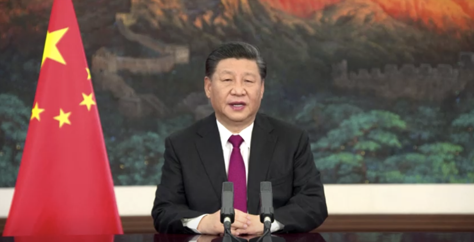 Xi Jinping's speech at the World Economic Forum has prompted calls of hypocrisy. Source: CCTV