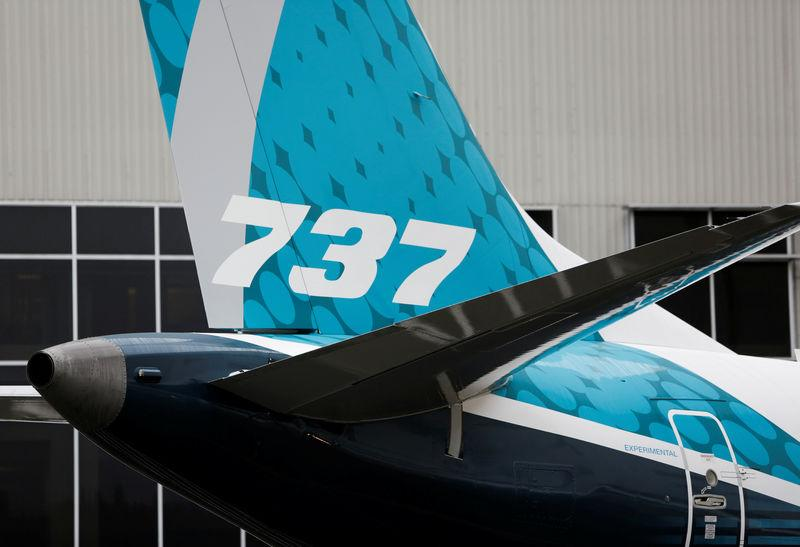 The first Boeing 737 MAX 7 is unveiled in Renton