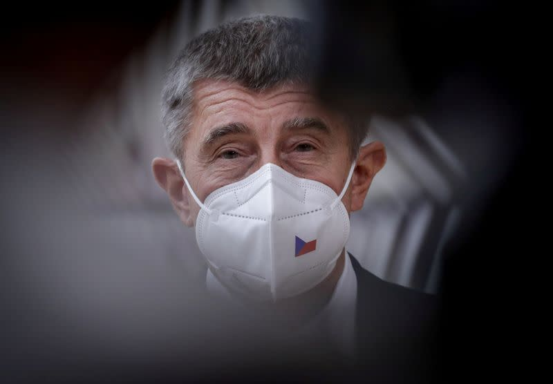 FILE PHOTO: Czech Republic's Prime Minister Andrej Babis arrives at a two-day face-to-face EU summit, in Brussels
