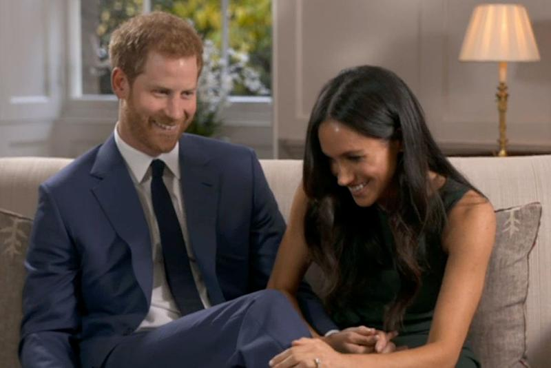 Prince Harry and Meghan Markle goof off in engagement interview | BBC