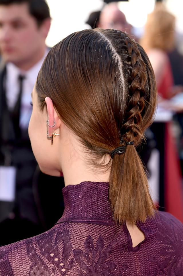 "<p>Looking at Hale from the front at the Billboard Music Awards, you'd probably have thought she was simply rocking a sleek ponytail (we're guilty). But one glance at the back and it's clear that it was an epic power braid moment. <a rel=""nofollow"" href=""http://www.glamour.com/story/lucy-hale-2016-billboard-music-awards-hair-back-photos?mbid=synd_yahoobeauty"">Here's exactly how to get it</a>—straight from her stylist, Kristin Ess.</p>"
