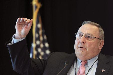 Maine Governor Paul LePage speaks at the 23rd Annual Energy Trade and Technology Conference in Boston