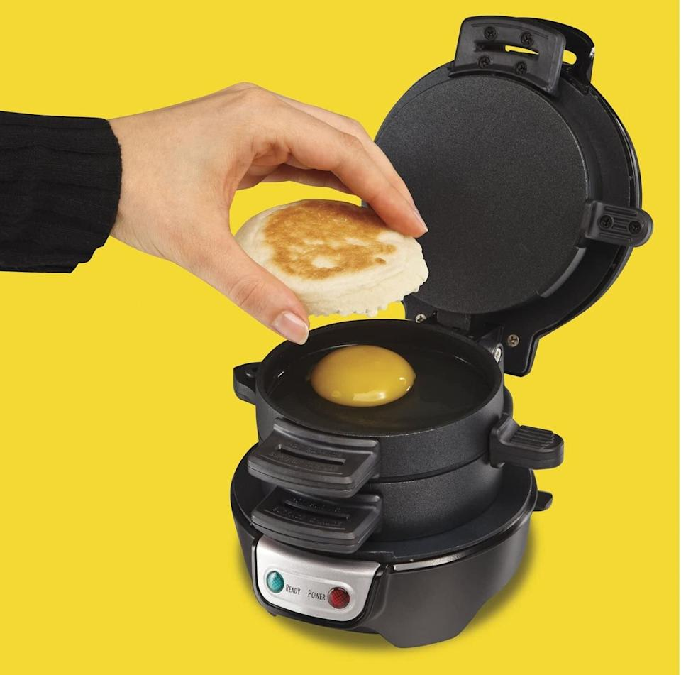 """Forthose rainy Sunday mornings when all you want is a cure for your hangover.<br /><br /><strong>Promising review:</strong>""""FAM. I need you to lissssssten. I would give this product 87 stars if I could. You'd think it would be one of those gimmicky kitchen appliances that barely even works. EXCEPT you're wrong. It's amazing. It's quick. Look. Lissssten.<strong>You put the ingredients in and about two minutes later your tummy is all like 'oh yesssss.'</strong>Basically. Just buy it. Purchase the sammich maker. You're welcome."""" —<a href=""""https://www.amazon.com/dp/B00C95O3DY?tag=huffpost-bfsyndication-20&ascsubtag=5817703%2C29%2C43%2Cd%2C0%2C0%2C0%2C962%3A1%3B901%3A2%3B900%3A2%3B974%3A3%3B975%3A2%3B982%3A2%2C16175983%2C0"""" target=""""_blank"""" rel=""""noopener noreferrer"""">Amazon Customer</a><br /><br /><strong>Get it from Amazon for <a href=""""https://www.amazon.com/dp/B00C95O3DY?tag=huffpost-bfsyndication-20&ascsubtag=5817703%2C29%2C43%2Cd%2C0%2C0%2C0%2C962%3A1%3B901%3A2%3B900%3A2%3B974%3A3%3B975%3A2%3B982%3A2%2C16175983%2C0"""" target=""""_blank"""" rel=""""noopener noreferrer"""">$23.47+</a> (available in five colors).</strong>"""