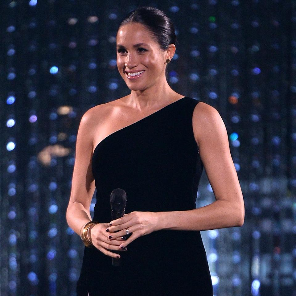 What A Coincidence! Meghan Markle Wore The Gold Heels We