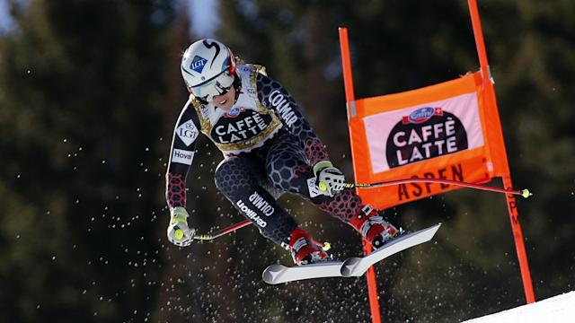 Tina Weirather denied Ilka Stuhec a second FIS Alpine Skiing World Cup globe as she claimed super-G victory on Thursday.