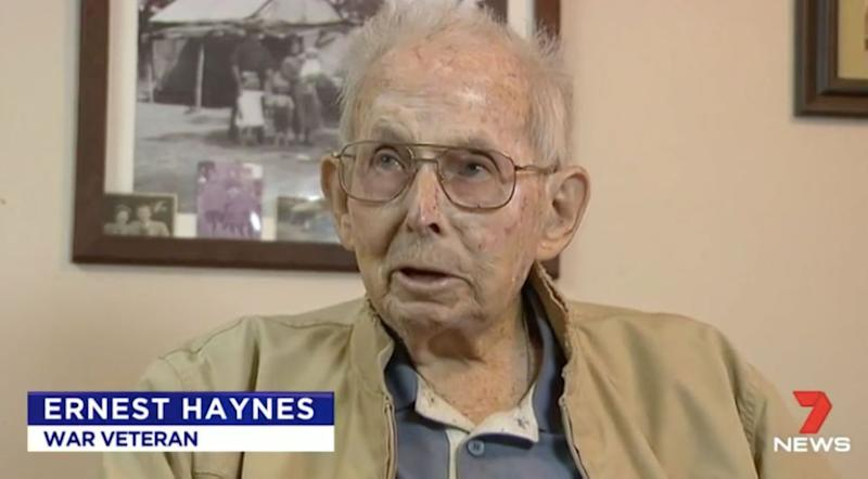 Ernest Hayes, 94, was robbed in his own home. Source: 7 News