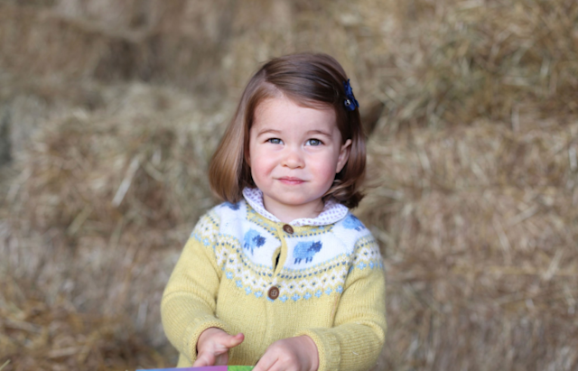 "The Duchess of Cambridge shared a photo of Charlotte taken in April to celebrate her second birthday. ""The Duke and Duchess are very pleased to share this photograph as they celebrate Princess Charlotte's second birthday,"" the caption on the Instagram from @kensingtonroyal reads. ""Their Royal Highnesses would like to thank everyone for all of the lovely messages they have received, and hope that everyone enjoys this photograph of Princess Charlotte as much as they do."" (Photo: @KensingtonRoyal/Instagram)"