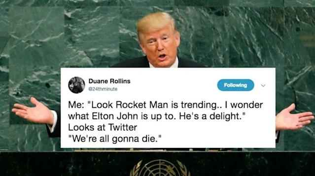 You don't have to be a rocket scientist to know that a world leader shouldn't hurl schoolyard insults at Kim Jong Un.